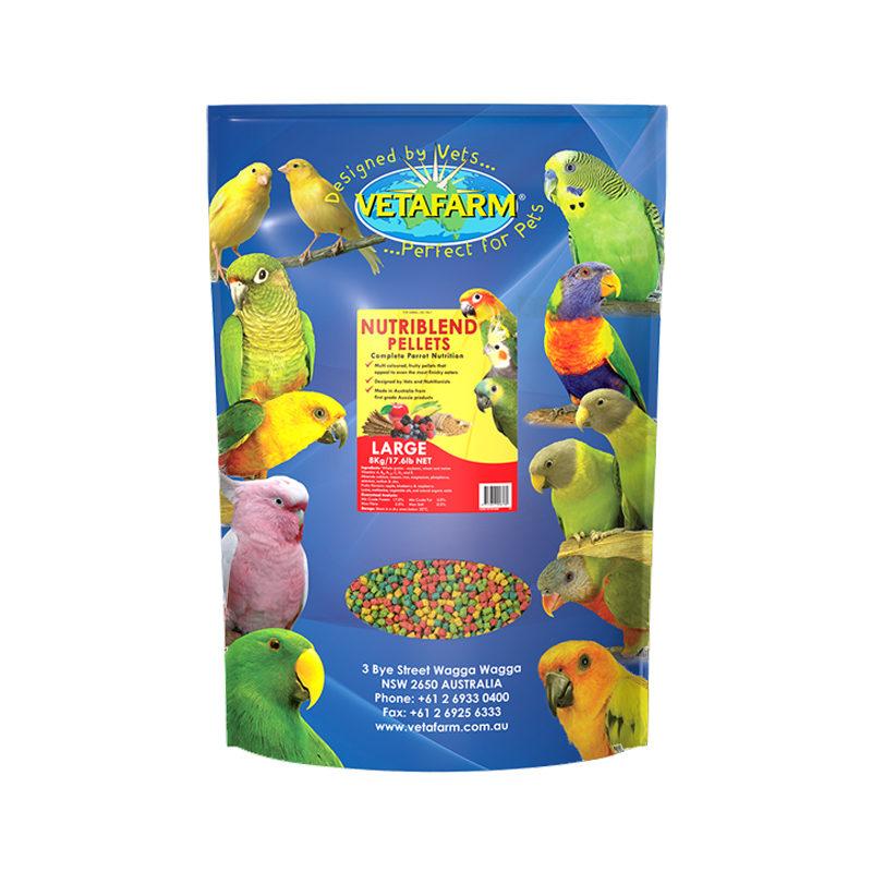 Vetafarm Nutriblend Large Parrot Pellets 8kg