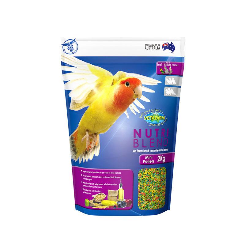 Vetafarm Nutriblend Mini Parrot Pellets 350g