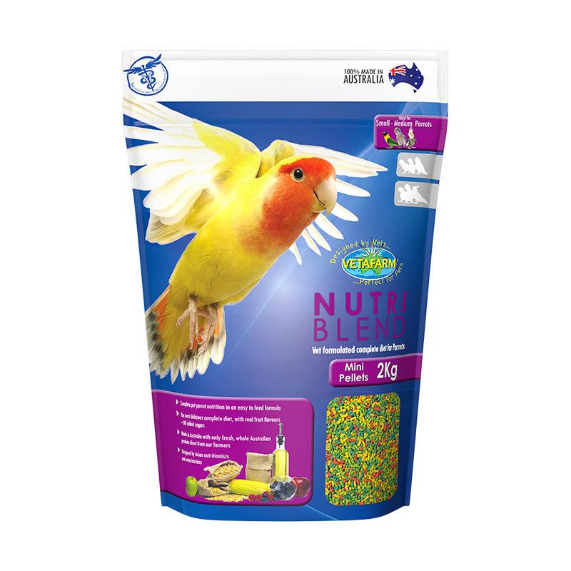 Vetafarm Nutriblend Mini Parrot Pellets 2kg