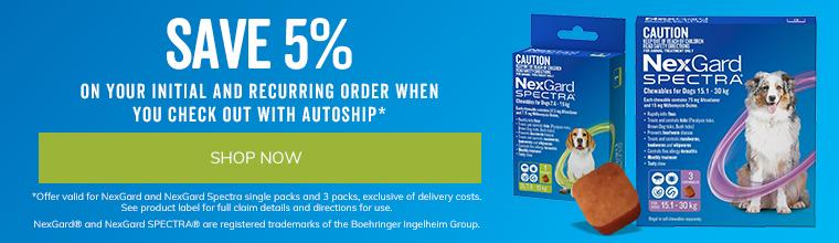 Save 5% on NexGard Spectra with AutoShip!