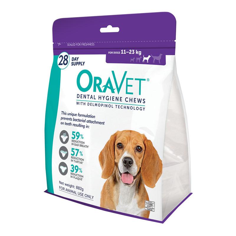 OraVet Dental Chews for Medium Dogs - 28 Pack 1