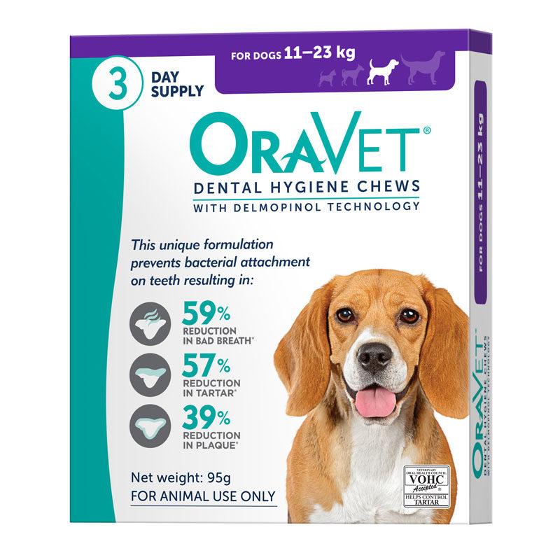 OraVet Dental Chews for Medium Dogs - 3 Pack 1