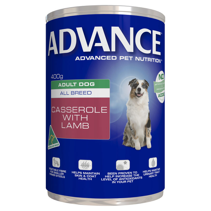 Advance Adult Dog All Breed Casserole with Lamb 400g x 12 Cans 1