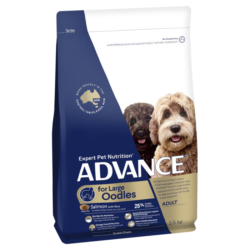 ADVANCE Large Oodles Adult Dog Food Salmon with Rice 2.5kg 1