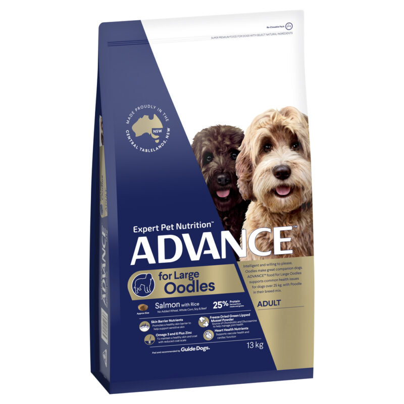 ADVANCE Large Oodles Adult Dog Food Salmon with Rice 13kg 1