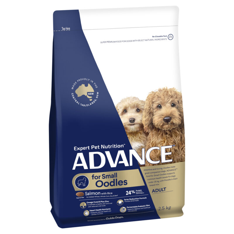 ADVANCE Small Oodles Adult Dog Food Salmon with Rice 2.5kg 1
