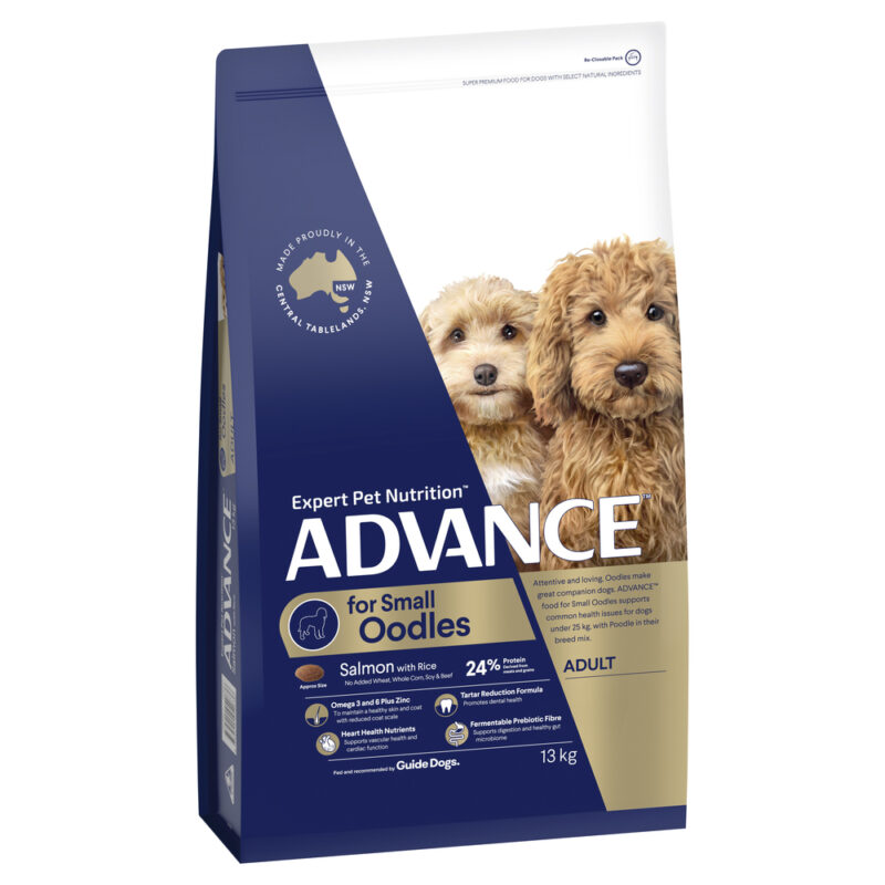 ADVANCE Small Oodles Adult Dog Food Salmon with Rice 13kg 1