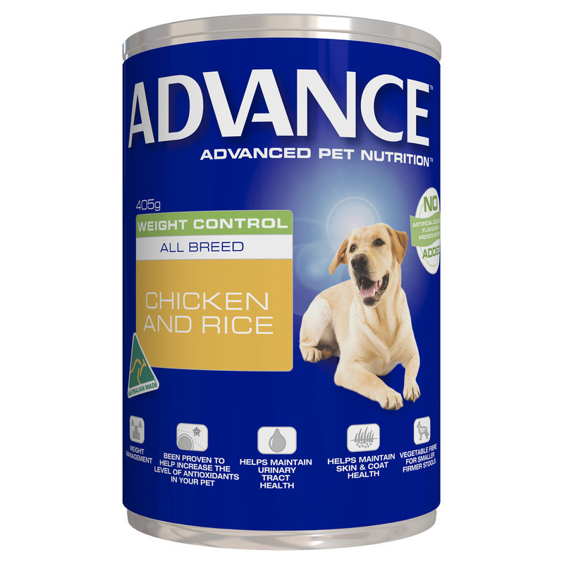Advance Adult Dog Weight Control All Breed 405g x 12 Cans 1