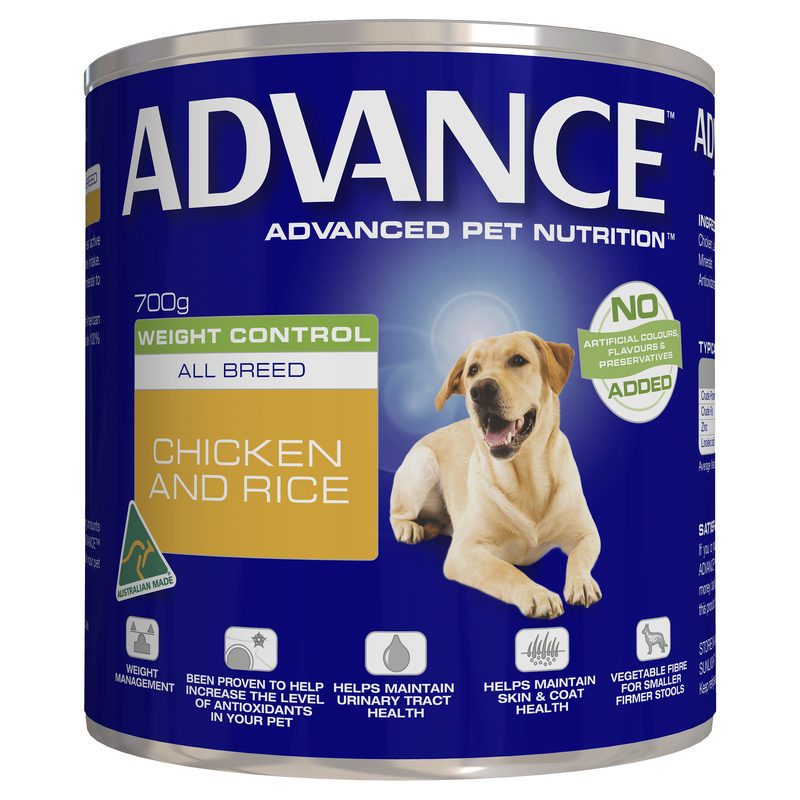 Advance Adult Dog Weight Control All Breed 700g x 12 Cans 1