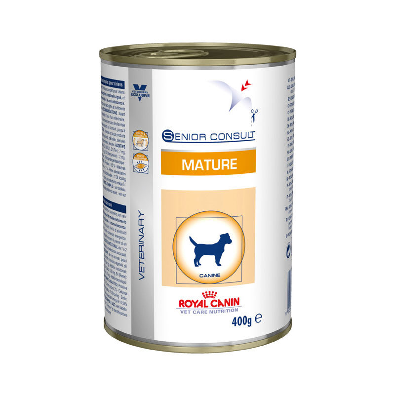 Royal Canin Vet Care Nutrition Senior Consult Mature Dog 400g x 12 Cans 1