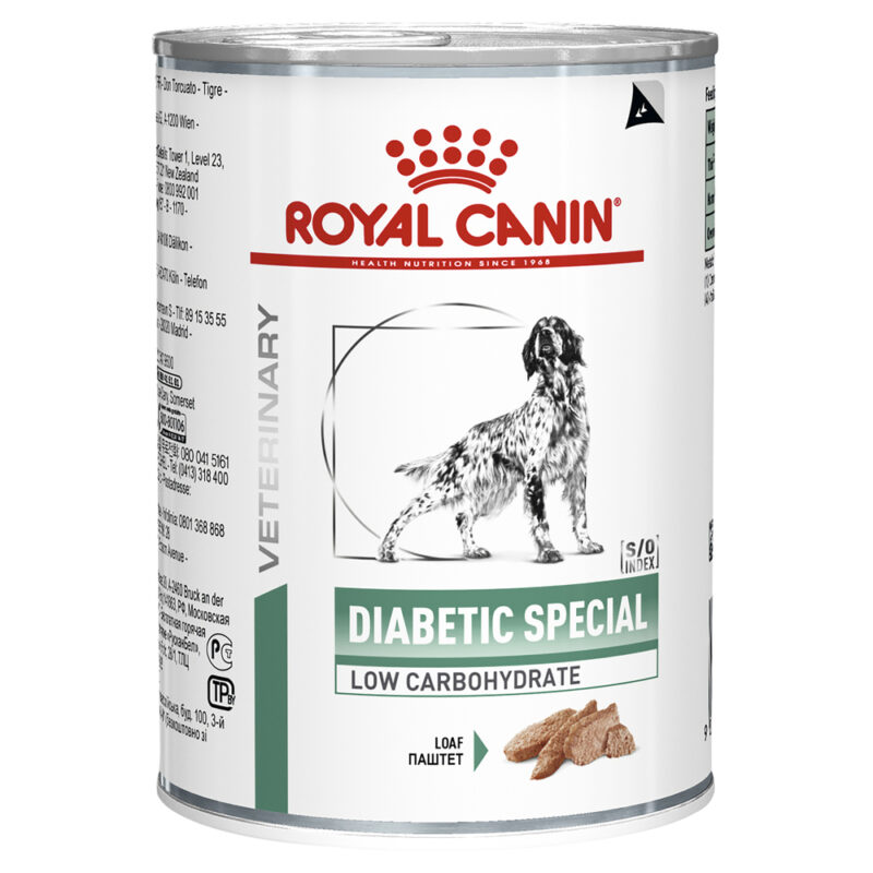 Royal Canin Veterinary Diabetic Special Canine Low Carbohydrate 410g x 12 Cans 1