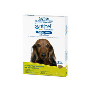 Sentinel Spectrum Green Chews for Small Dogs - 3 Pack 1