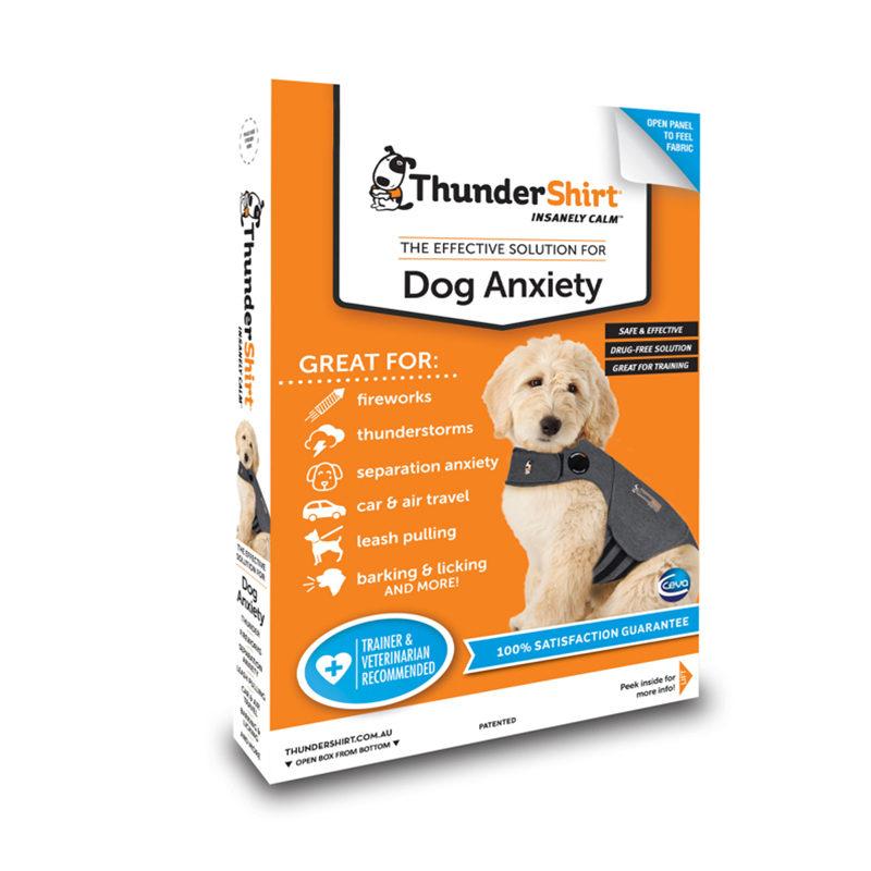 ThunderShirt Dog Anxiety Vest Heather Grey Small