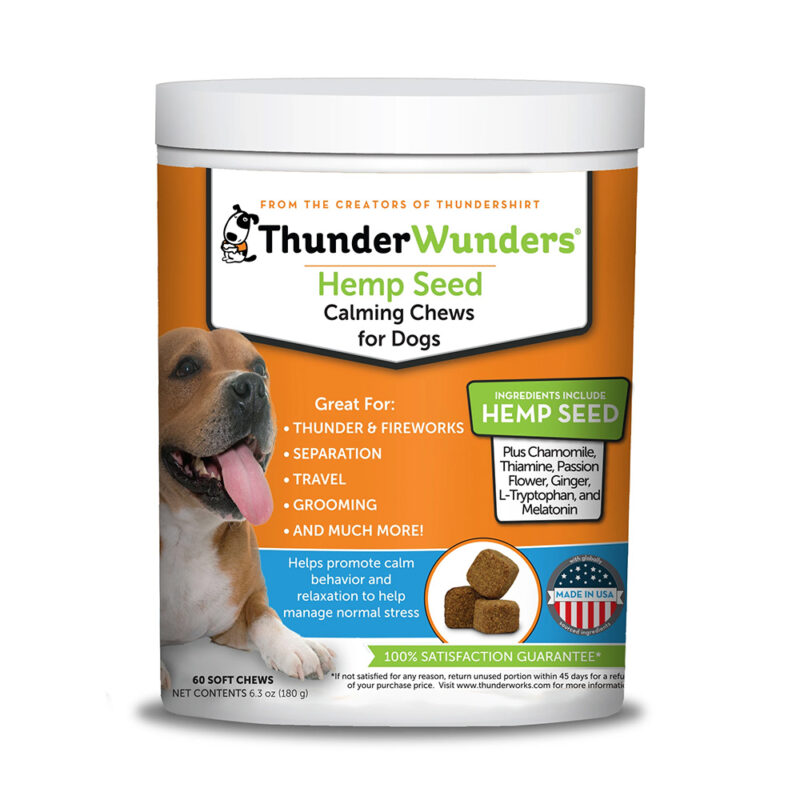 ThunderWunders Calming Chews for Dogs with Hemp Seed 125g 1