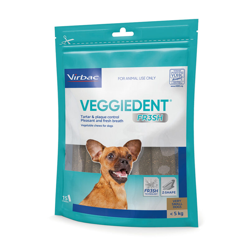 VeggieDent FR3SH Dental Chews for Extra Small Dogs - 15 Pack 1