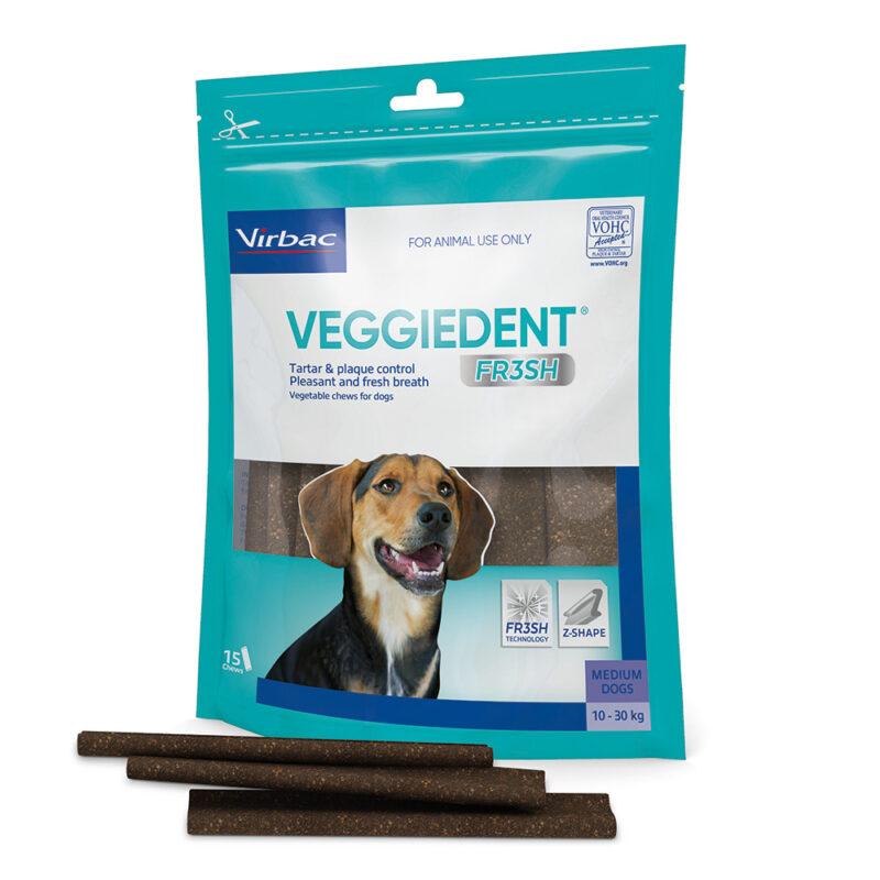VeggieDent FR3SH Dental Chews for Medium Dogs - 15 Pack 1