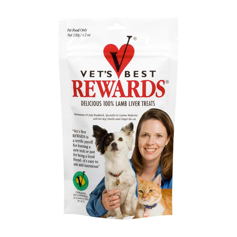 Vets Best Rewards Lamb Liver Treats 120g 1