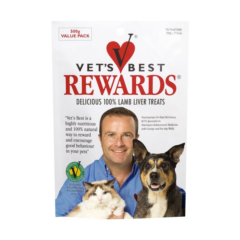 Vets Best Rewards Lamb Liver Treats 500g 1