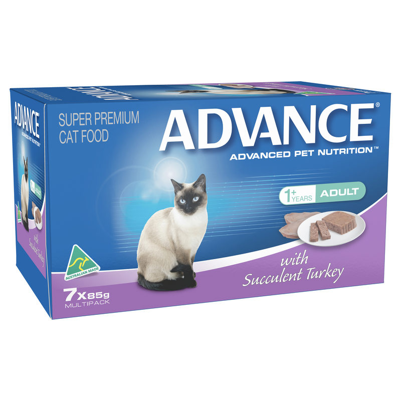 Advance Adult Cat with Succulent Turkey 85g x 7 cans 1