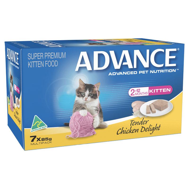 Advance Kitten Tender Chicken Delight 85g x 7 cans 1
