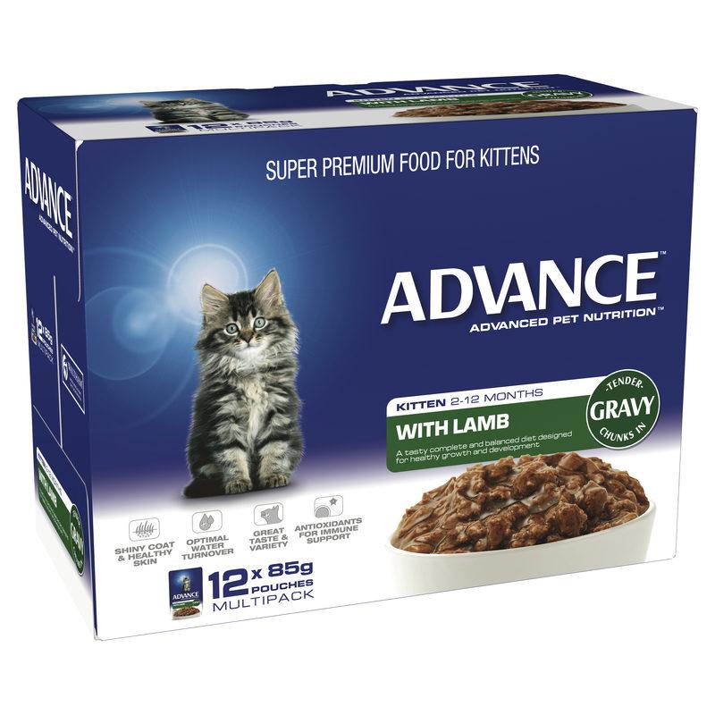 Advance Kitten with Lamb in Gravy 85g x 12 Pouches 1
