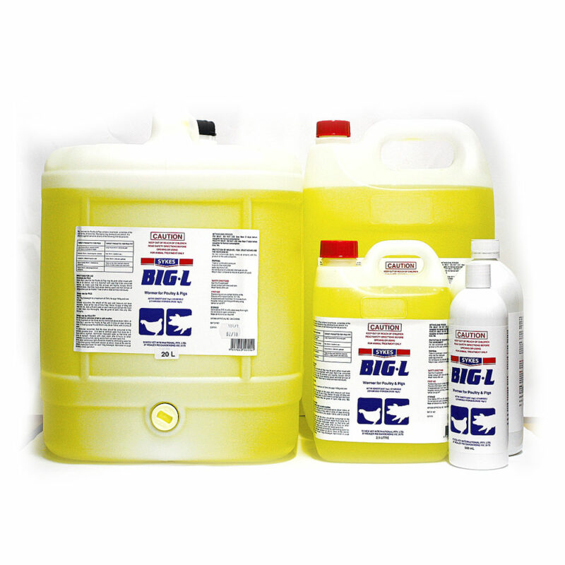 Sykes Big-L Wormer for Poultry and Pigs 500mL 1